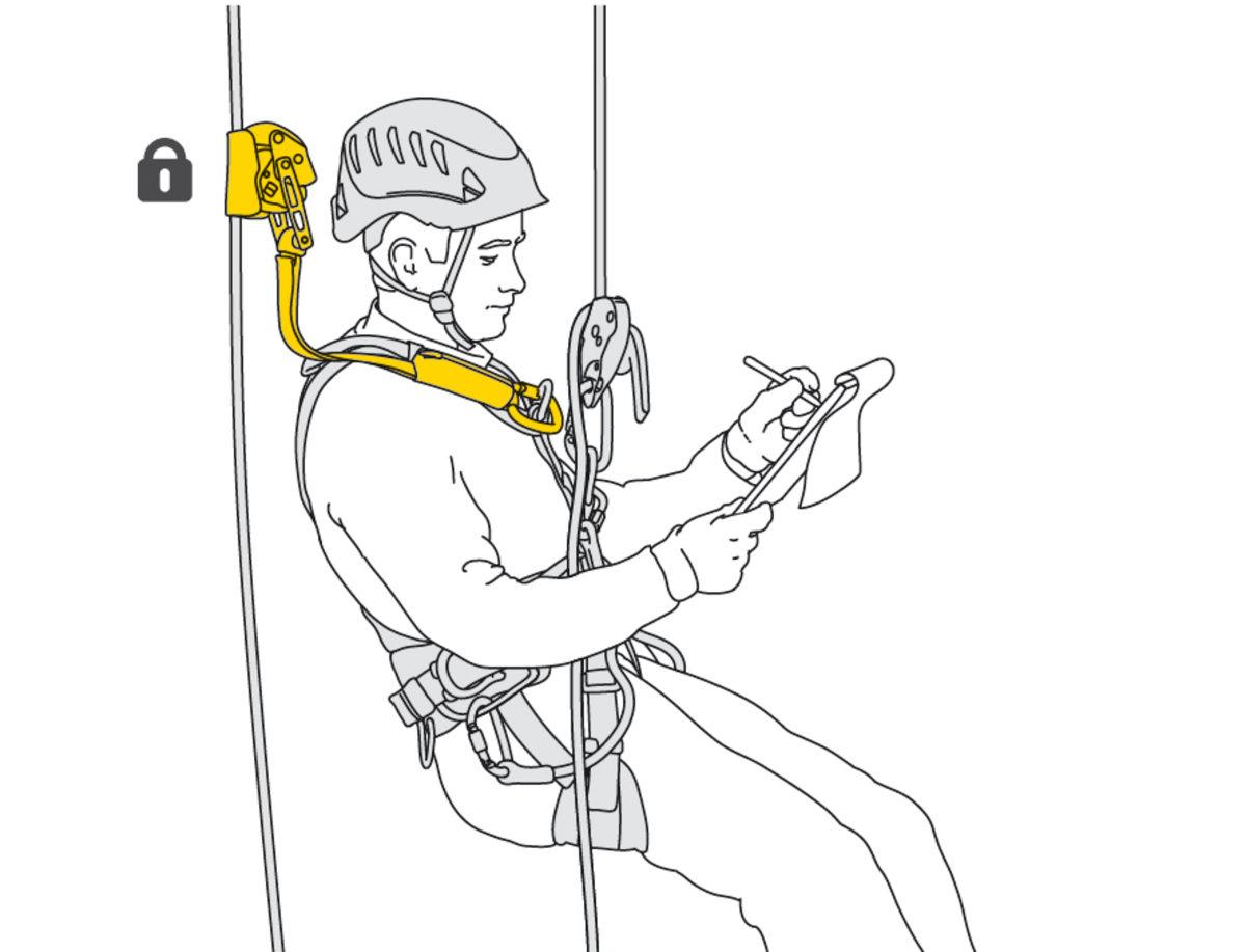 B071BA00 Petzl ASAP Lock Mobile Fall-Arrest Device